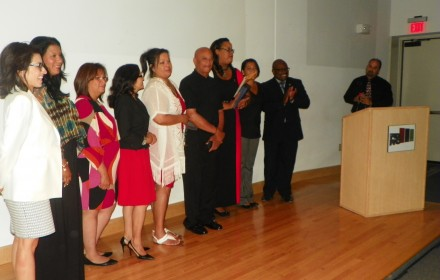 PR Parade Committee with Stephanie Paredes and County Legislator Ernest Flagler. Photo by:  Yara Olmo
