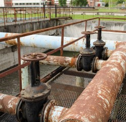 Rusty water pipes