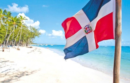 dominican flag beach