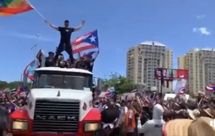 Protesters gather in San Juan to demand Governor Rossello's resignation