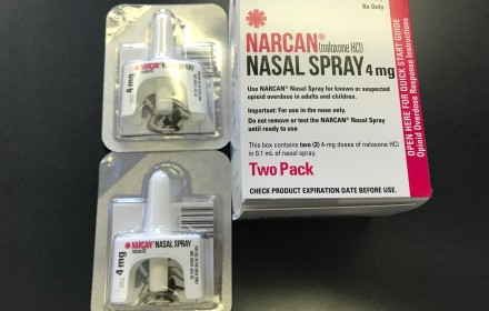 Narcan can reverse the effects of an opioid overdose. The medication comes in two doses. Photo by Patti Singer/LaVoz