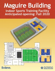 A former warehouse on the site of the soccer stadium will be transformed into an indoor training facility with youth athletes in mind. Provided by Rochester Area Community Foundation